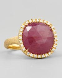 Marco Bicego - Purple Siviglia 18k Pink Sapphire Ring Medium - Lyst