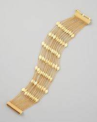 Marco Bicego | Metallic Siviglia 18k Gold 20-strand Small-bead Bracelet | Lyst