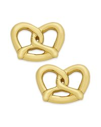 kate spade new york | Metallic Kate Spade New York Earrings 12k Goldplated Pretzel Stud Earringss | Lyst