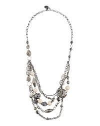 Sandwich | Natural Metal Beaded Necklace | Lyst