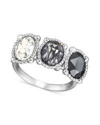 Swarovski | Metallic Rosette Ring | Lyst