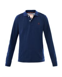 Brooks Brothers - Blue Long Sleeve Polo Top for Men - Lyst