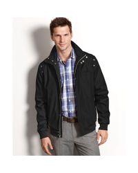 Calvin Klein Black Lightweight Water Resistant Bomber Jacket for men
