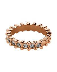 Dyrberg/Kern | Metallic Gafa Rose Gold Grey Ring | Lyst