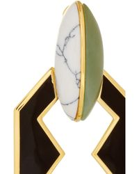 Eddie Borgo - Black Gold Plated New Jade and Howlite Earrings - Lyst