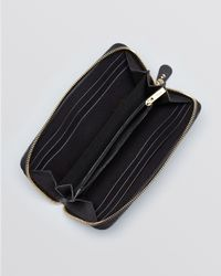 Ferragamo | Black Gancini Saffiano Zip Wallet | Lyst