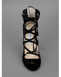 Jimmy Choo | Black Verdict Sandal | Lyst