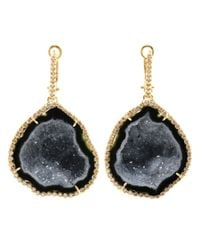 Kimberly Mcdonald | Blue Geode Drop Earrings with Diamond Fastenings | Lyst
