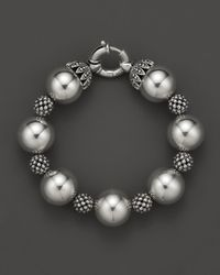 Lagos   Metallic Sterling Silver Bold Caviar Wow Bracelet   Lyst