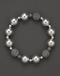 Lagos | Metallic Sterling Silver Medium Bold Caviar Wow Endless Bracelet | Lyst