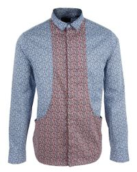 B Store | Blue Baracuda Shirt for Men | Lyst