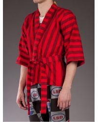 Bernhard Willhelm - Red Patterned Kimono for Men - Lyst