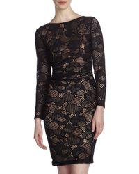 David Meister | Crochet Lace Openback Sheath Dress Black | Lyst