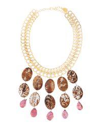 Devon Leigh | Metallic Jasper Pearl Statement Necklace | Lyst