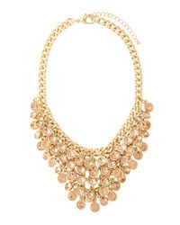 Fragments - Metallic Light Peach Cluster Bib Necklace - Lyst