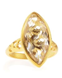 Indulgems - Metallic Rock Crystal Marquisecut Ring - Lyst
