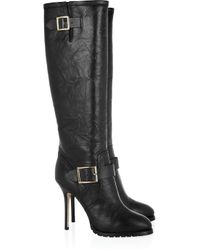 Jimmy Choo | Black Gaige Leather Knee Boots | Lyst