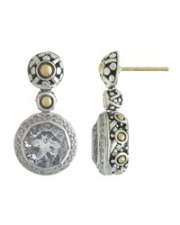 John Hardy - Metallic Batu Sari White Topaz and Diamond Pave Earrings - Lyst