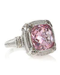 Judith Ripka | Metallic Berge Pink Crystal Ring  | Lyst
