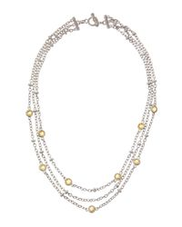 Judith Ripka - Metallic Canary Crystal Multistrand Necklace - Lyst