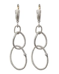 Judith Ripka - Metallic Jubilee Earrings Small - Lyst