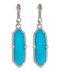 Judith Ripka | Metallic Turquoise Drop Earrings | Lyst