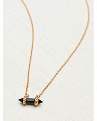 Free People - Black Misa Necklace - Lyst