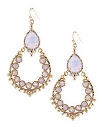 Kendra Scott - Metallic Blue Stone Chandelier Earrings - Lyst