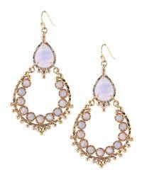 Kendra Scott | Metallic Blue Stone Chandelier Earrings | Lyst