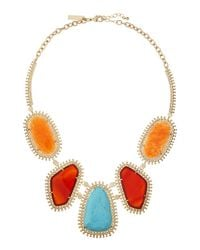 Kendra Scott - Orange Fivestation Epoxy Necklace Cayenne - Lyst