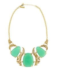 Kendra Scott - Green Iggy Chalcedony Leaf Necklace - Lyst