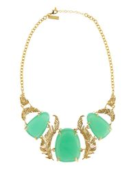 Kendra Scott | Green Iggy Chalcedony Leaf Necklace | Lyst