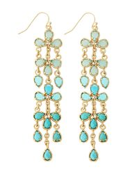Kendra Scott | Blue Ombre Turquoise Dangle Earrings | Lyst