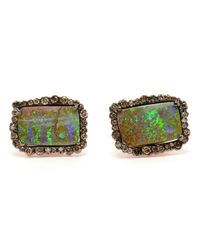 Kimberly Mcdonald - Green Boulder Opal And Diamond Earrings - Lyst