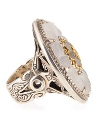 Konstantino - Metallic Iris Crystal Flower Ring - Lyst