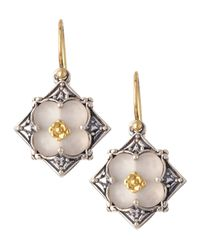 Konstantino | Multicolor Iris Silvergold Flower Earrings | Lyst
