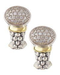 Lagos - Metallic Twilight Diamond Post-clip Earrings - Lyst