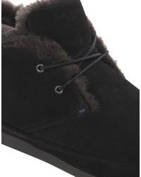 Lyle & Scott - Black Loomis Shearling Chukka Boots for Men - Lyst