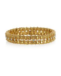 Philippe Audibert | Metallic Petit Amelia Goldplated Crystal Bracelet | Lyst