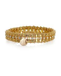 Philippe Audibert - Metallic Petit Amelia Goldplated Crystal Bracelet - Lyst