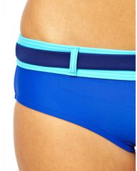 Tatty Devine - Blue Piha Color Block Belted Boy Leg Bikini Pant - Lyst