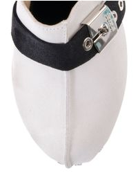 Scholl - White Closed Toe Mule - Lyst