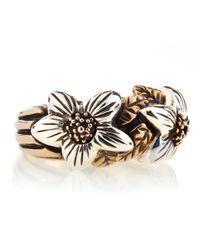 Stephen Dweck - Metallic Bronzesilver Flower Ring - Lyst