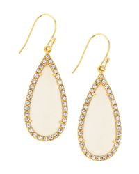 Tai | Metallic Moon Glass Crystal Teardrop Earrings | Lyst