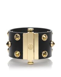 Tory Burch | Metallic Theophile Crystal Stud Bracelet | Lyst