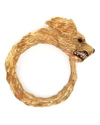 Duffy | Metallic Handmade Gold Plated Wolf Cuff | Lyst