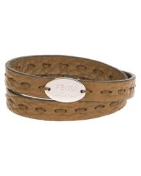 Fendi | Brown Double Wrap Bracelet for Men | Lyst