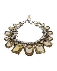 Iradj Moini | Metallic Double Layer Necklace | Lyst