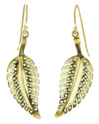 Jennifer Meyer - Green Emerald Leaf Earrings - Lyst