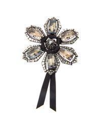 Lanvin - Multicolor Volubilis Floral Crystal Brooch - Lyst